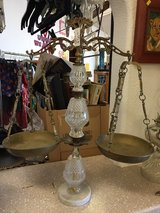brass and crystal scale in Alamogordo, New Mexico