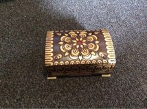small carved box from Bulgaria in Lakenheath, UK