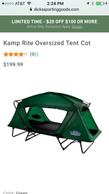 Kamprite Tent Cot     Have 2 Brand New In Box  Never Used in Hopkinsville, Kentucky