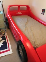 Little Tikes Red Twin Race Car Bed in Joliet, Illinois