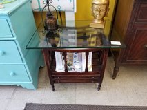 Magazine or Album 2 Drawer Stand with Glass #1685-3555 in Wilmington, North Carolina