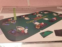 Poker Table Topper(NIB)Double Sided #701-162 in Wilmington, North Carolina