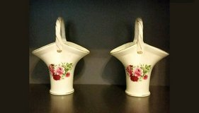 Set of Rose Pattern Basket Floral Vases FORMALITITES BY Baum Bro in Fort Leonard Wood, Missouri