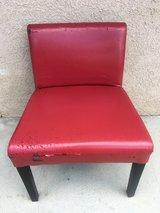 red vinyl chair in 29 Palms, California