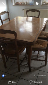 Oak Table and 6 chairs in Ramstein, Germany