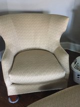 Chair with Ottoman - LIKE NEW Hickory White in Lockport, Illinois