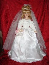 21 inch BRIDE DOLL Collector Choice Limited Edition By Donnatella De Roma Blonde Bisque Porcelai... in Lockport, Illinois