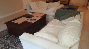 ETHAN ALLEN SLIP COVER COUCH WITH LOVESEAT in Bolingbrook, Illinois
