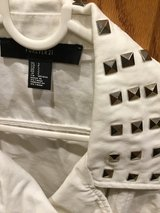 EUC white small studded vest in Fairfield, California