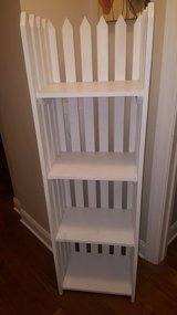 Pair of white picket shelves in St. Charles, Illinois