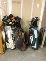 3 Sets of Expensive Golf Clubs with Covers in Travis AFB, California