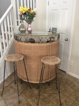 Awesome wicker bar with 2 matching bar stools in Las Vegas, Nevada