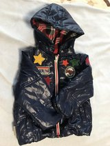 Blue jacket, blue vest with hood and olaf jacket are size 100, japanese size, for 16-24 months..... in Okinawa, Japan