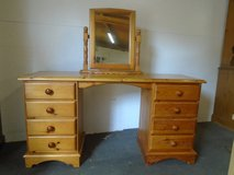 Pine dressing table and mirror in Lakenheath, UK