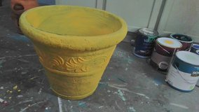 Large plant pot  saffron yellow in Wilmington, North Carolina