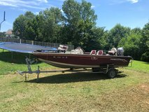 Bass boat in Fort Campbell, Kentucky