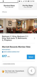Marriott Timber Lodge Hotel, 11-17 Aug in Travis AFB, California