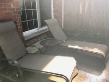 Reclining lounge chairs and table in St. Charles, Illinois