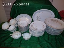 Vintage Golden Wheat Bone China Dinnerware Set 75 pieces in Yucca Valley, California