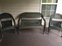 wicker patio couch and chairs in Warner Robins, Georgia