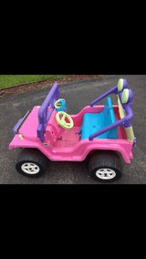 Power Wheels Barbie Jeep with radio in Bolingbrook, Illinois