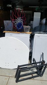 Basketball hoop and equipment in Travis AFB, California