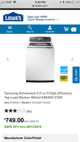 Brand new washer in Schaumburg, Illinois