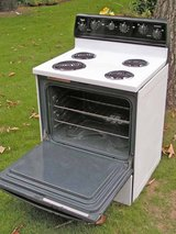 Range Stove Electric- By General Electric/ Hotpoint-White in color in Warner Robins, Georgia