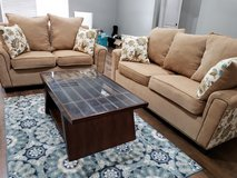 Newly Custom made Sofa & Loveseat w/Coffee table & Rugs in Leesville, Louisiana
