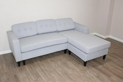 Light Blue Sectional in pristine condition! in Kingwood, Texas