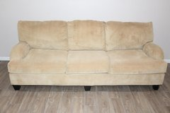 Corduroy Sofa/ couch Mustard yellow excellent condition! in Kingwood, Texas