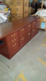 Executive / Professional Desk with Matching Credenza Office Furniture in Oswego, Illinois