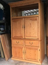 Oak Armoire Wardrobe Cabinet in Aurora, Illinois