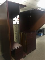 U Shaped Solid Wood Desk with lateral file cabinet in Spring, Texas