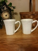 SET OF TWO WHITE BETTER HOMES COFFEE CUPS in Fort Leonard Wood, Missouri