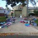 Yard sale - still going on in Camp Pendleton, California