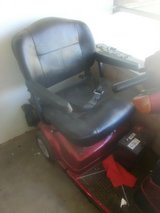 red power wheelchair in Yucca Valley, California
