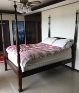 Queen Bed, Frame, Mattress & Box Springs in Okinawa, Japan