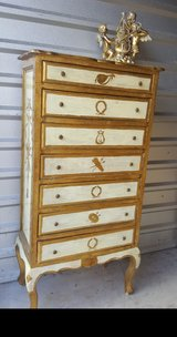 7 Drawer French Provencial lingerie Chest in Baytown, Texas