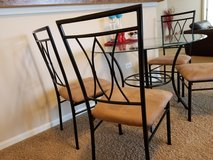 Dining table - glass , 4 chairs in Glendale Heights, Illinois