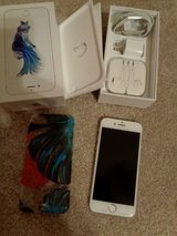 Iphone 6S EXCELLENT cond. AT&T w/glass screen protector, charger, unused earbuds, box in Camp Lejeune, North Carolina