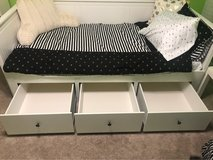 Like new bed w/mattress and bedding in Joliet, Illinois