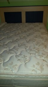 FULL SIZE BED FRAME AND MATTRESS SET+COVER in Wilmington, North Carolina