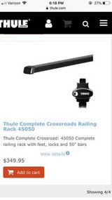 Thule Complete Crossroads Railing Rack/ Roof Rack in Fort Carson, Colorado