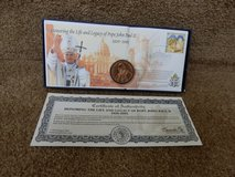 Pope John Paul II Coin and Stamp in Naperville, Illinois