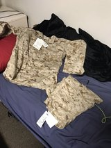 New Pair of Tan Cammies with tags on them in Camp Pendleton, California