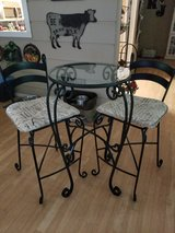 Pier One Wrought Iron Bistro Set in Conroe, Texas