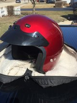 Motorcycle helmet with carry case in Chicago, Illinois