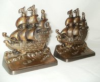 VERY UNIQUE AND VINTAGE BRASS SHIP BOOKENDS in Naperville, Illinois