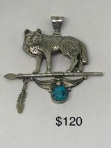 LARGE SIGNED NAVAJO WOLF PENDANT in 29 Palms, California